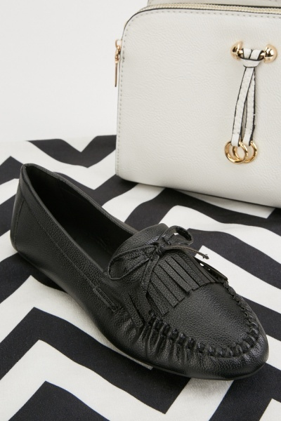 Tassel Bow Front Loafers