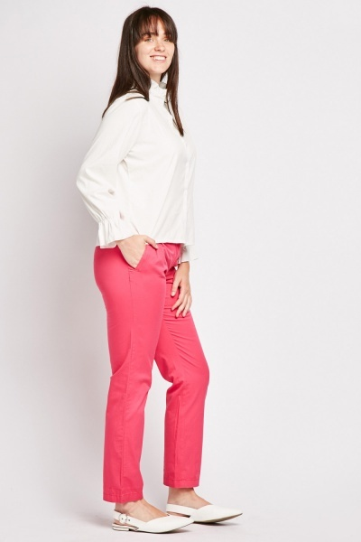 Cotton Straight Leg Causal Chinos