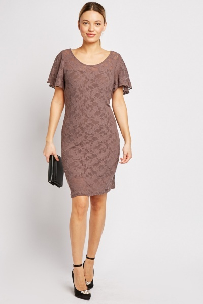 Floral Pattern Lace Dress