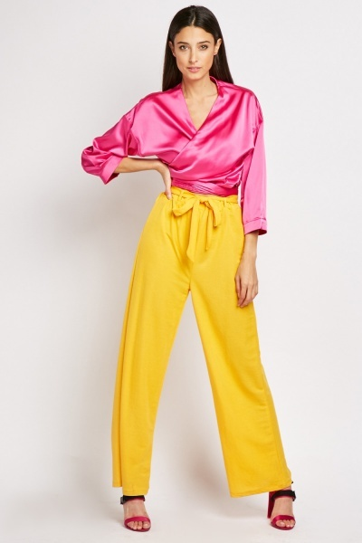 Belted High Waist Trousers