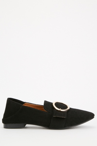 Buckled Fold Back Loafers