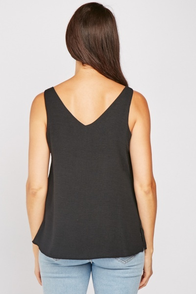 Decorative Button Front Cami Top