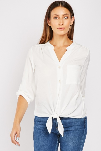Tie Up Front Blouse