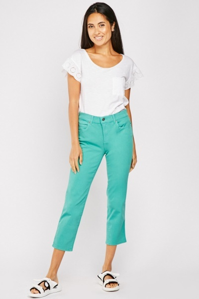 Straight Crop Trousers