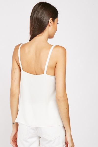 Flap Pocket Front Cami Top