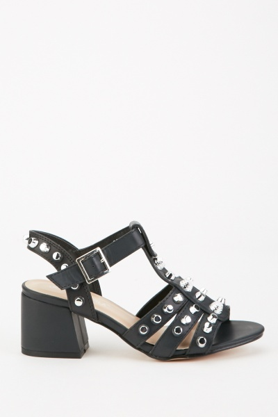 Multi Studded Strappy Heels