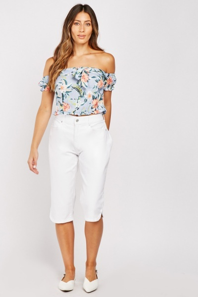 Crop Straight Fit Trousers