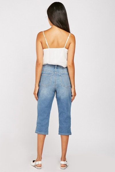 All-Around-Slimming Effect Crop Jeans