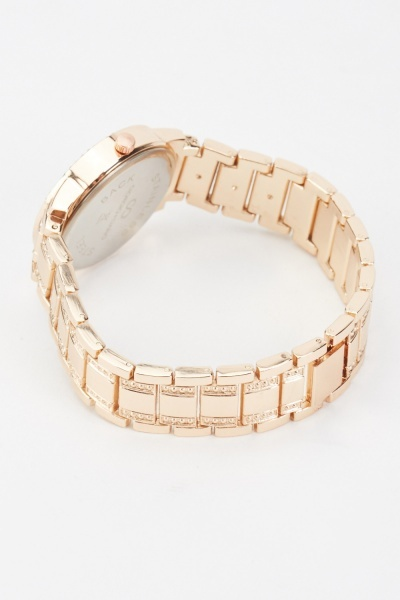 Diamante Encrust Chain Strap Watch