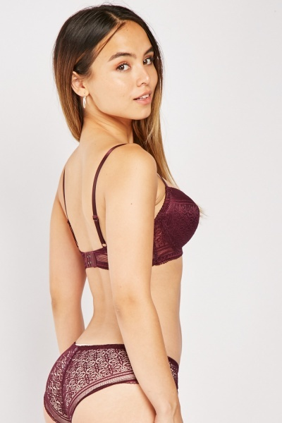 Underwired Lace Bra And Brief Set