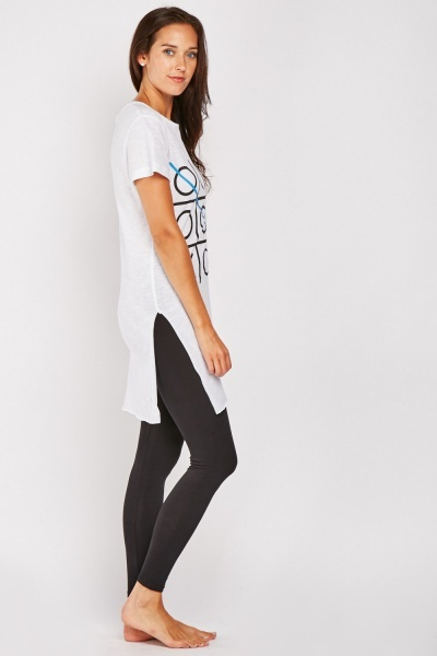Printed Top And Leggings Loungewear Set