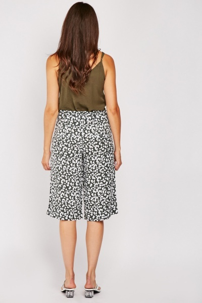 Speckled Loose Fit Crop Trousers