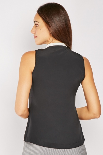 Monochrome Sleeveless Top