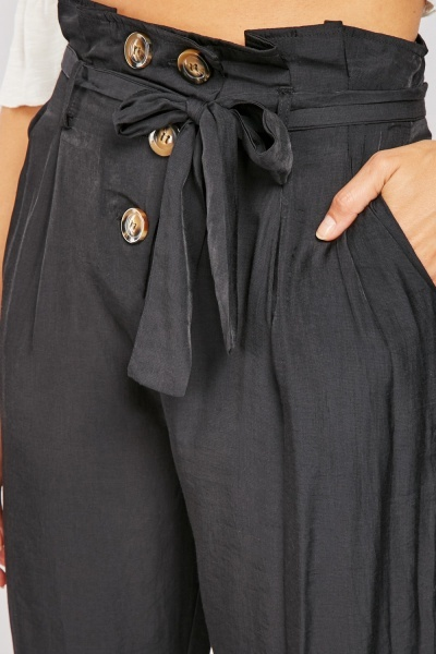 High Waist Paperbag Trousers