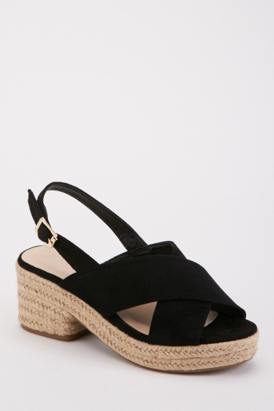 Cross Over Espadrille Sandals