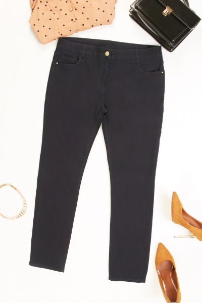 Mid Rise Skinny Navy Jeans