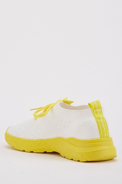 Textured Colour Block Trainers