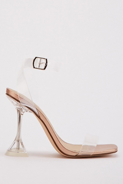 Transparent Rose Gold Heels