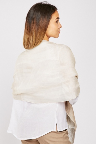 Partially Linen Scarf