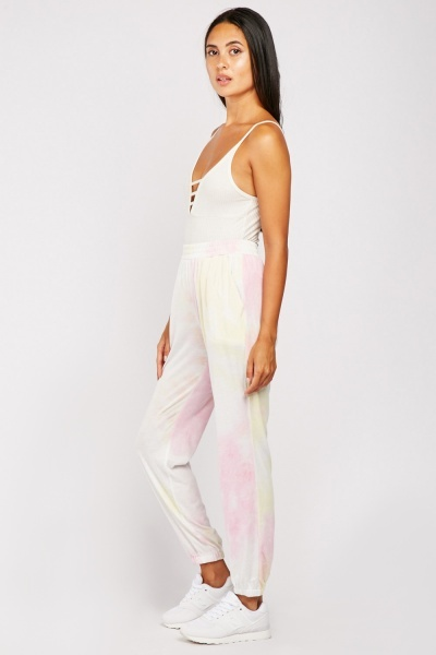 Tie-Dyed Casual Jogging Bottoms