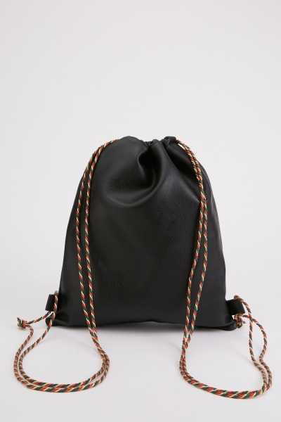 Mulit-Coloured Drawstring Rope Backpack