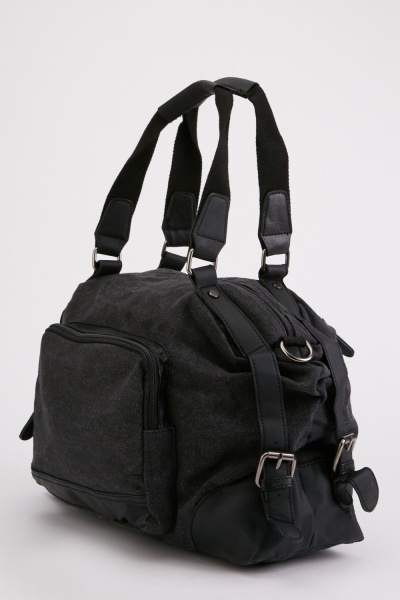 Textured Double Handle Duffle Bag