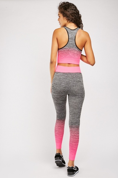 Ombre Speckled Sportswear Set