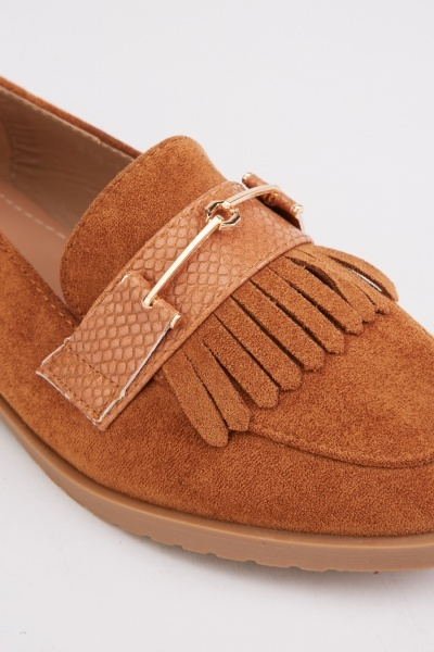 Front Detail Camel Loafers