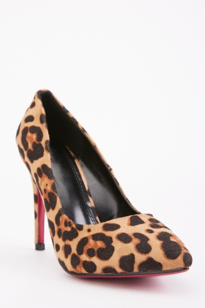 Animal Print Court High Heels