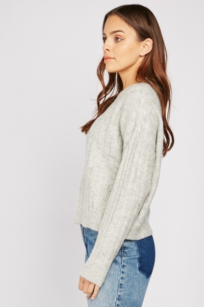 Soft Knit Ribbed Jumper