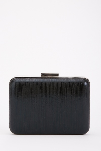 Black Shimmery Clutch Bag