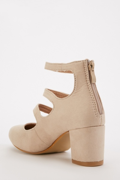Triple Buckle Strap Mary-Jane Heels