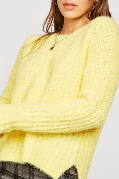 Eyelash Chenille Knit Jumper