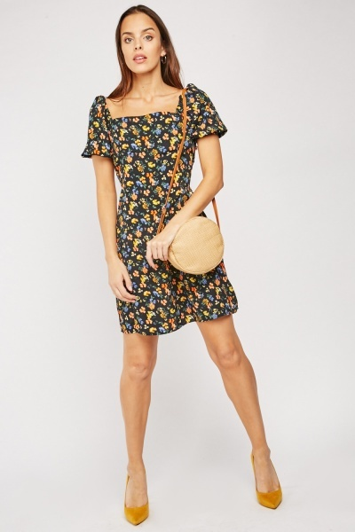 Calico Print Tea Dress