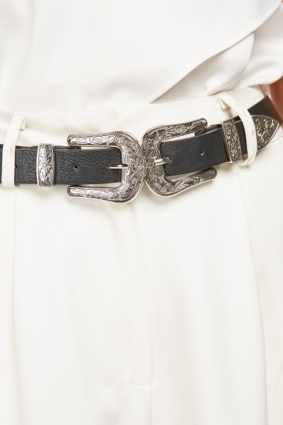 Double Buckle Strap Belt