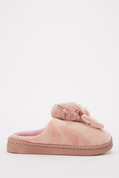 Bow Front Soft Slippers
