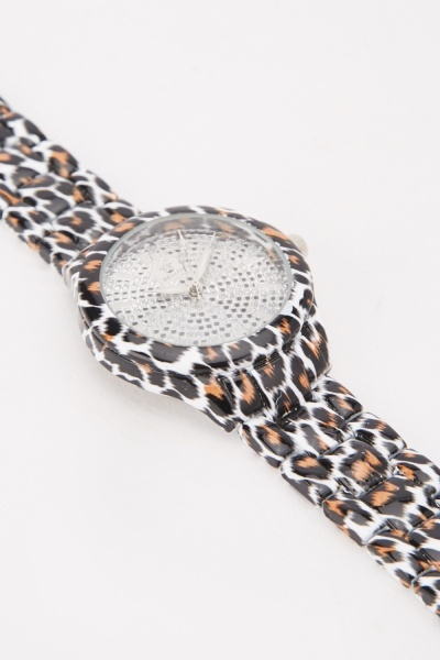 Cheetah Print Watch