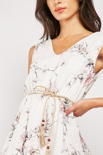Ruffle Tiered Delicate Floral Dress