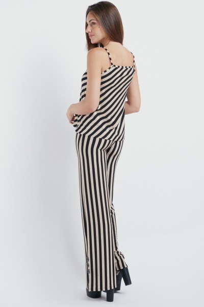 Striped Cami Top And Trousers Set