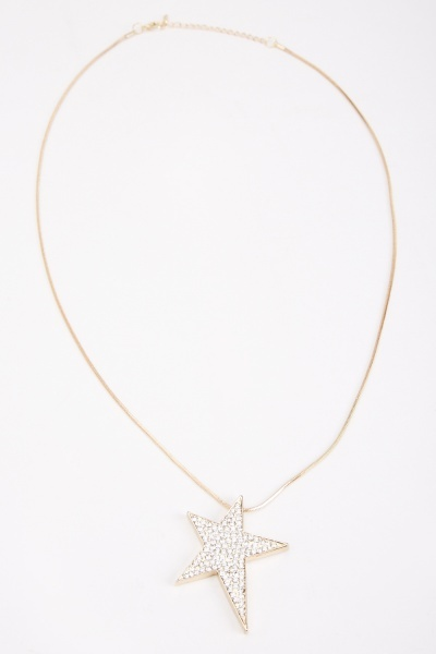 Diamante Star Pendant Necklace