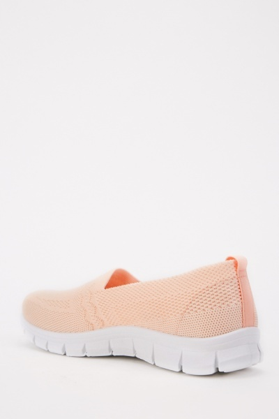 Elasticated Light Pink Trainers