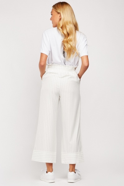 Toggle Waist Wide Leg Trousers