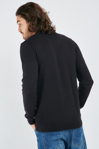 V-Neck Fine Knit Jumper