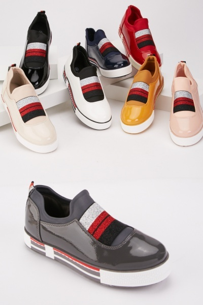 PVC Elasticated Strap Trainers