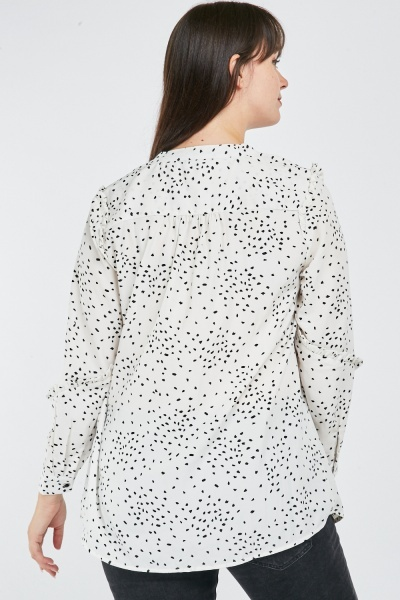 Scattered Print Blouse