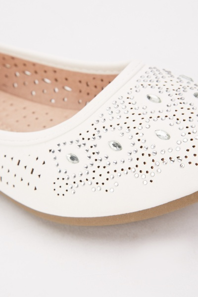 Laser Cut Encrusted Shoes