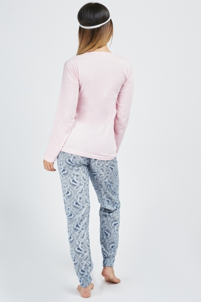 Paisley Printed 3 Piece Pyjama Set