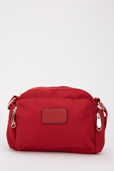 Textured Plain Shoulder Bag