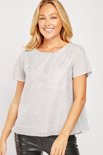Crochet Short Sleeve Top