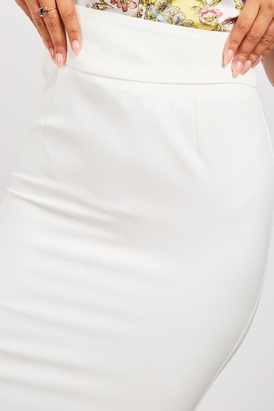 High Waist Midi Pencil Skirt